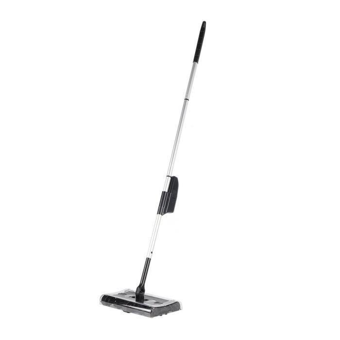 Balai Electrique Sweeper Balayeuse Sans Fil Balai Rechargeable Sans Fil Maison Bureau Nettoyage Noir