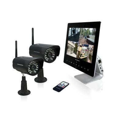 Enregistreur Vidéo Sans fil Écran couleur 9'' - 2 caméras sans fil 720P