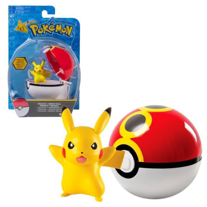 Sélection Chiffres du Jeu avec Pokeball - Pokemon - Tomy - Chiffres d'Action [Pikachu avec Bis Ball]