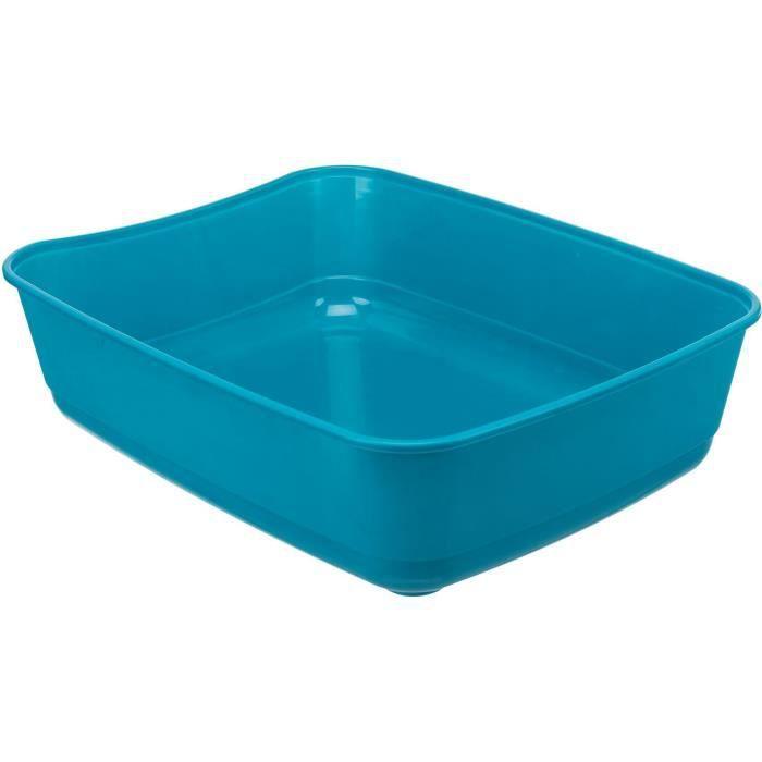 TRIXIE Bac à litière Classic - 36 x 12 x 46 cm - Bleu pétrole - Pour chat
