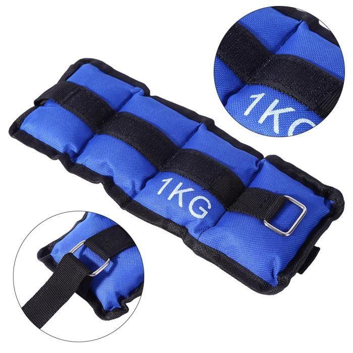 3Kg (2pcs*1.5kg) Poids de Cheville, Poids de Poignet Durable bracelets poids lestés pour la formation en cours d'exécution