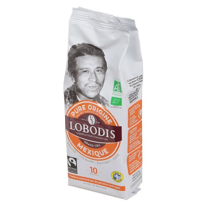 Café moulu Mexique Bio Equitable LOBODIS 250g