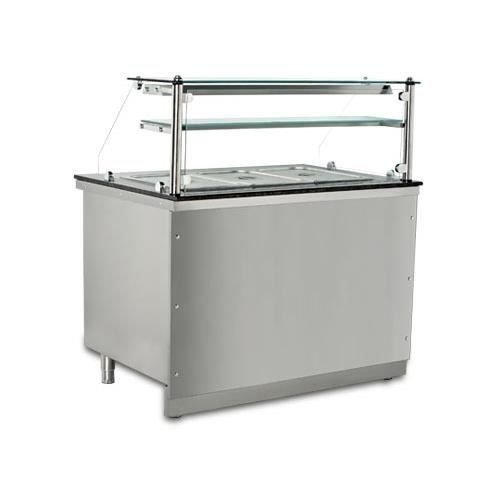comptoir bain marie professionnel vier en inox 4 gn 1 1 2700w 220v neuf. Black Bedroom Furniture Sets. Home Design Ideas