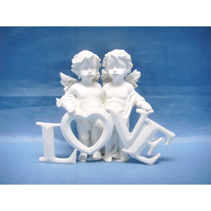 Le coin cadeaux Figurine ch/érubin Ange endormie sur Coeur B Statue Statuette Mariage bapt/ême No/ël d/éco 4x7.5x9cm Livraison Gratuite d/ès 25E