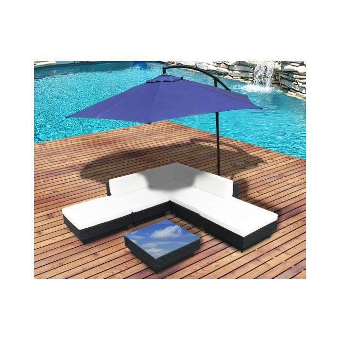 Magnifique ensemble salon de jardin d angle + parasol ...
