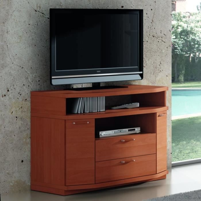 aune meuble s jour tv bois 100cm 2 tag res achat. Black Bedroom Furniture Sets. Home Design Ideas