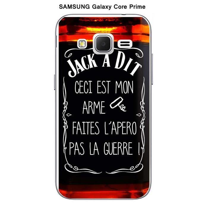 Coque Samsung Galaxy Core Prime design Jack à Dit faites l'apéro