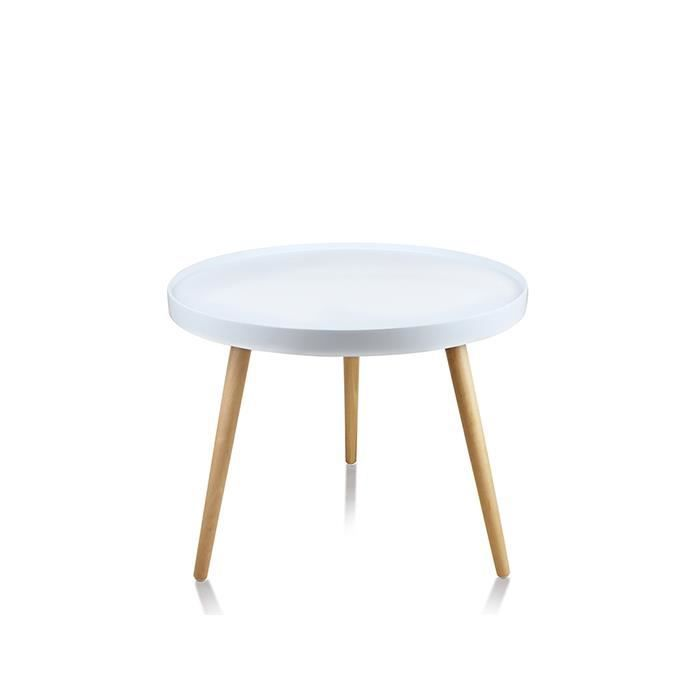 Table basse de salon ronde blanche pristina achat vente table basse tab - Table salon cdiscount ...