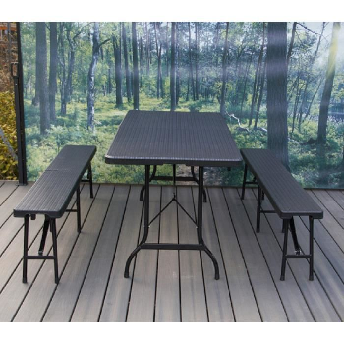pliantsensemble brasserie Table2 bancs de noir AR4j35Lq
