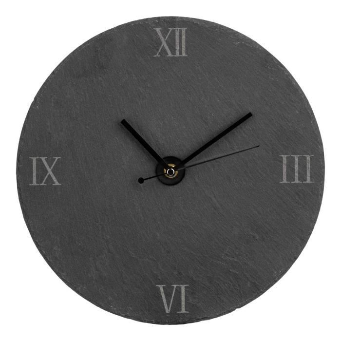 horloge murale ardoise 30cm pour la maison cuisine salon salle manger achat vente horloge. Black Bedroom Furniture Sets. Home Design Ideas