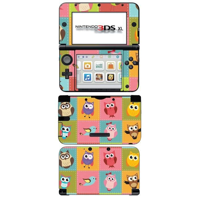 skin stickers pour nintendo 3ds xl sticker owls. Black Bedroom Furniture Sets. Home Design Ideas