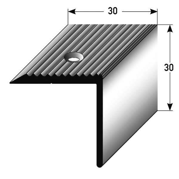 30 mm x 30 mm aluminium anodis/é couleur: bronze clair Nez de marche // Corni/ère pour escaliers for/é