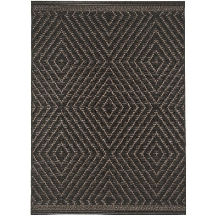 benuta tapis d 39 39 ext rieur int rieur naoto noir 160x230 cm 39 achat vente tapis soldes. Black Bedroom Furniture Sets. Home Design Ideas