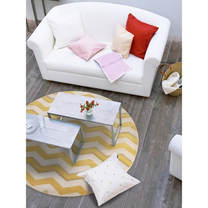 benuta tapis rond nagual jaune 200 cm rond achat. Black Bedroom Furniture Sets. Home Design Ideas