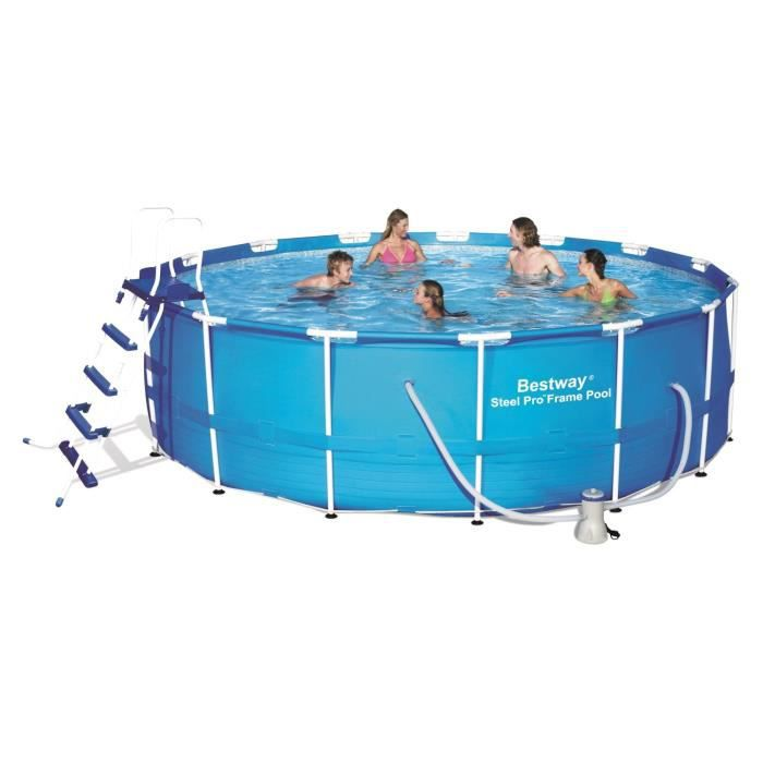 Bestway piscine steel pro frame pool ronde tubulaire 4 for Bestway piscine