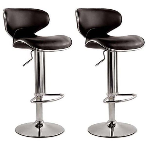 2 tabourets de bar noirs achat vente tabouret noir cdiscount. Black Bedroom Furniture Sets. Home Design Ideas