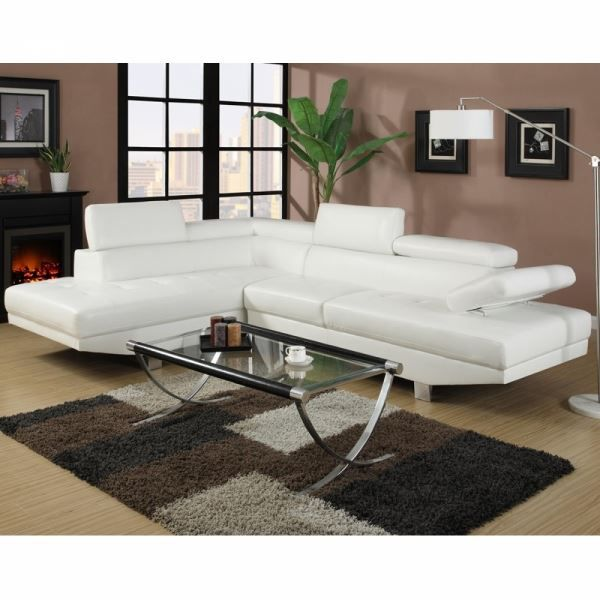 canape d 39 angle napoli cuir reconstitue blanc ga achat vente canap sofa divan soldes. Black Bedroom Furniture Sets. Home Design Ideas
