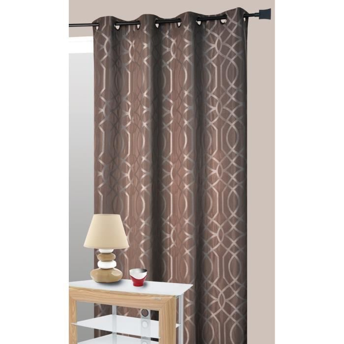 rideau d 39 ameublement pacha jacquard 140x260 cm gris achat vente rideau cdiscount. Black Bedroom Furniture Sets. Home Design Ideas