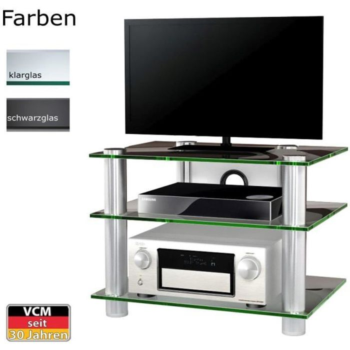 netasa meuble tv hifi video commode rangement verre achat vente meuble tv netasa meuble tv. Black Bedroom Furniture Sets. Home Design Ideas