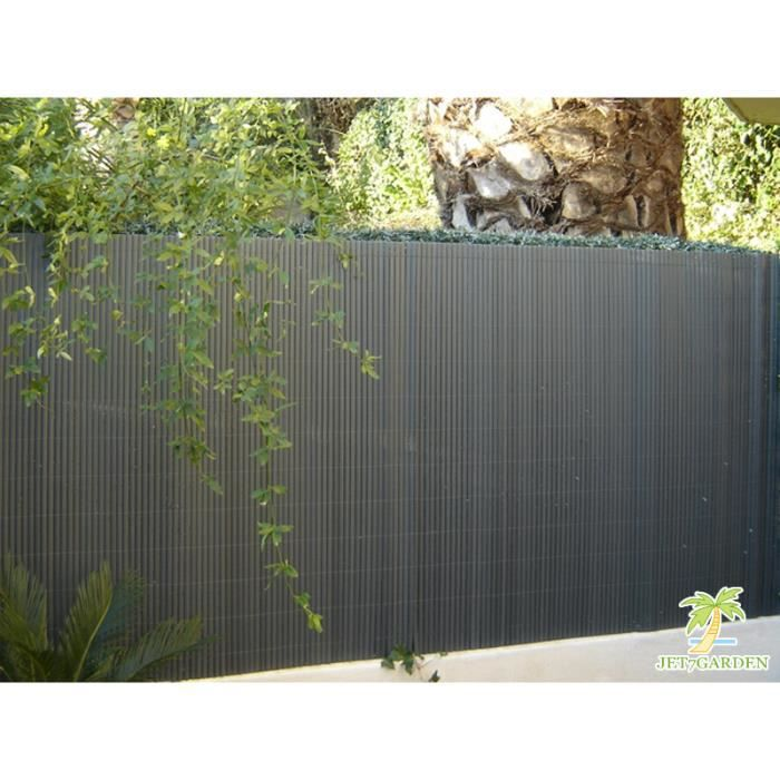 Canisse pvc double face gris anthracite en roul achat for Bordure de jardin gris anthracite