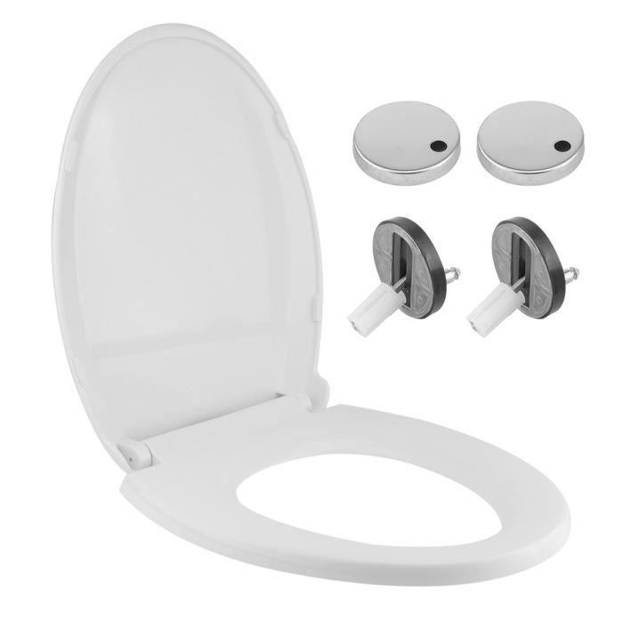 Deuba Abattant cuvette WC toilette avec ralentisseur chute Adulte Noir