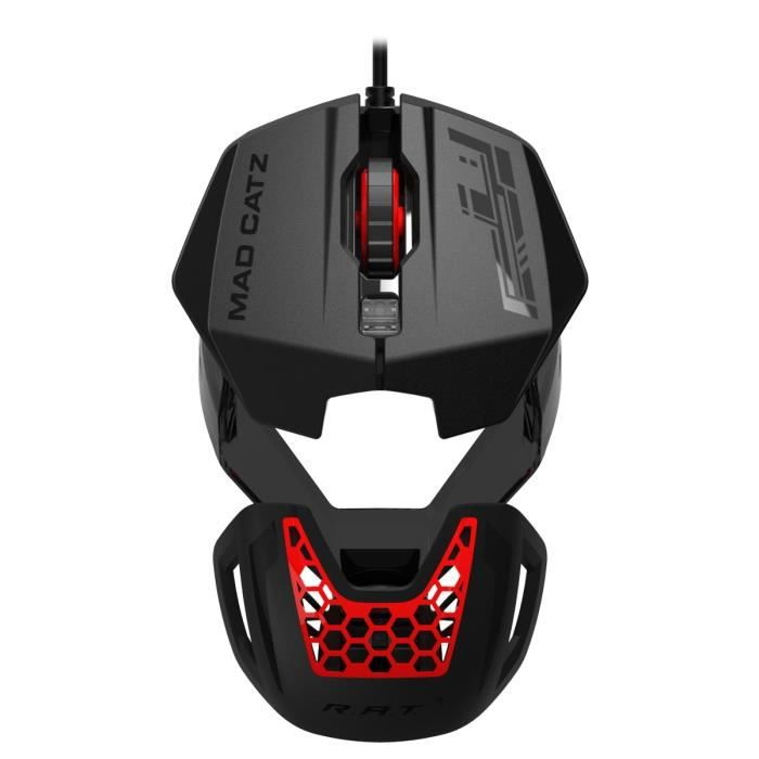 mad catz souris gamer rat 1 filaire optique 6 boutons 100 1600 dpi noir prix pas. Black Bedroom Furniture Sets. Home Design Ideas