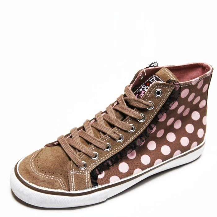 Baskets hi top gothique, rock, emo DRAVEN POLKAHOLIC HI TOP