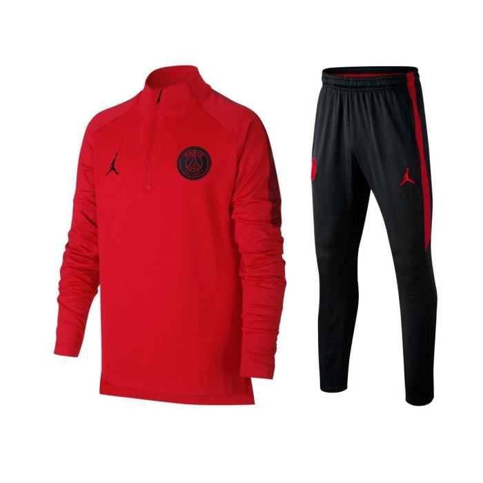 ENSEMBLE JUNIOR TRAINING PARIS PSG JORDAN 2018 19 survetement psg jordan 30df82d6d45