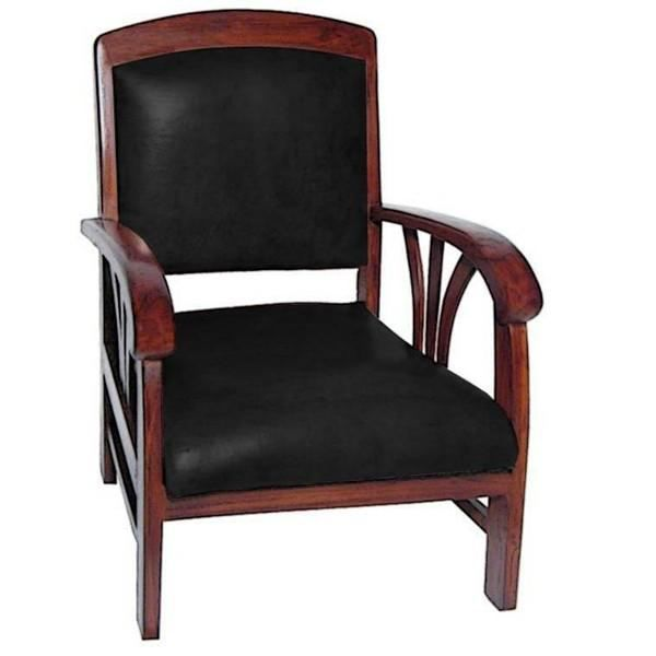 fauteuil design colonial sedan teck cuir achat vente. Black Bedroom Furniture Sets. Home Design Ideas