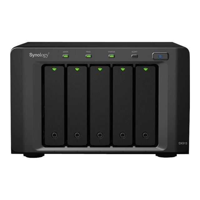 synology bo tier d 39 extension 5 baies dx513 prix pas cher. Black Bedroom Furniture Sets. Home Design Ideas