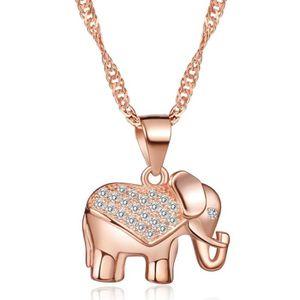 PENDENTIF VENDU SEUL Infinite U Collier pendentif l'éléphant élégant or
