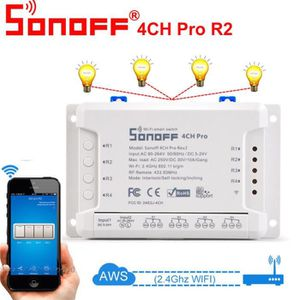 PLAQUE DE FINITION Sonoff 4CH Pro R2 4 Way Montage sans fil WiFI Smar