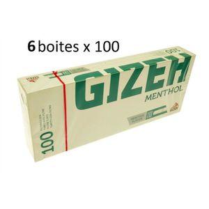 TUBE À CIGARETTE Lot De 6 Boîtes De 100 Tubes À Cigarettes Menthol