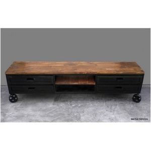 meuble table moderne table basse style industriel pas cher. Black Bedroom Furniture Sets. Home Design Ideas