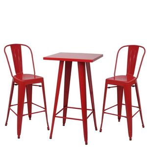 table bar rouge achat vente table bar rouge pas cher cdiscount. Black Bedroom Furniture Sets. Home Design Ideas