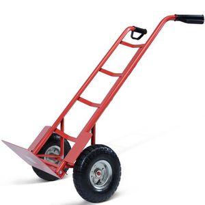 Pliant Diable de Transport Syst/ème de Transport charge max Diable de Manutention Rouge ou Noir 200 kg 2 Roues Pneumatiques Chariot /à Main en Acier