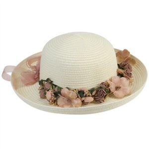 VBIGER Capeline de Paille Femme Chapeau de Soleil Pliable /à Bord Large Fille Casquette Visi/ère Anti-UV pour Plage Voyage Vacances