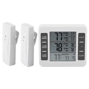 THERMOMÈTRE DE CUISINE Thermomètre de réfrigérateur d'alarme sonore audib