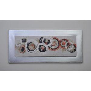 TABLEAU - TOILE CIRCLE1 Tableau déco toile peinte 40x90 cm rouge e