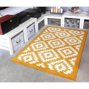 TAPIS Tapis salon MAYA jaune moutarde DEBONSOL - 120x170
