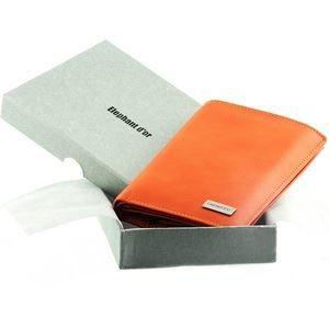 De luxe pour homme de haute qualité en cuir marron walletbifold carte de crédit titulaire cadeau
