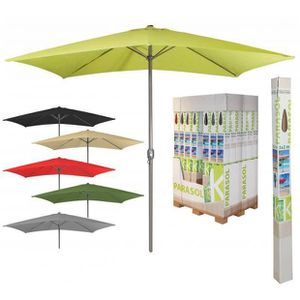 PARASOL Parasol Aluminium Rectangle Vert - 3mx2mx2m45 Mani