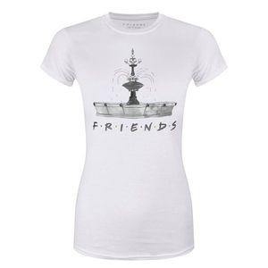 T-SHIRT Friends T-Shirt Fountain Femme Blanc