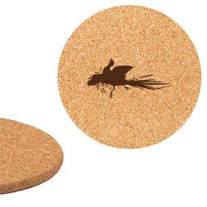DESSOUS DE PLAT  Dessous de plat en liège 18cm gravé Oiseau 6