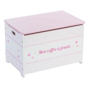 COFFRE À JOUETS Coffre à jouets en bois pour enfant coloris rose,