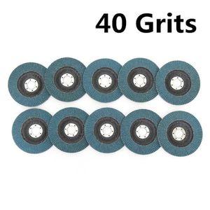 10pcs Grit 60 Disque abrasif pon/çage polissage disque pour Flap 100 x 6 x 16 mm rouge brique