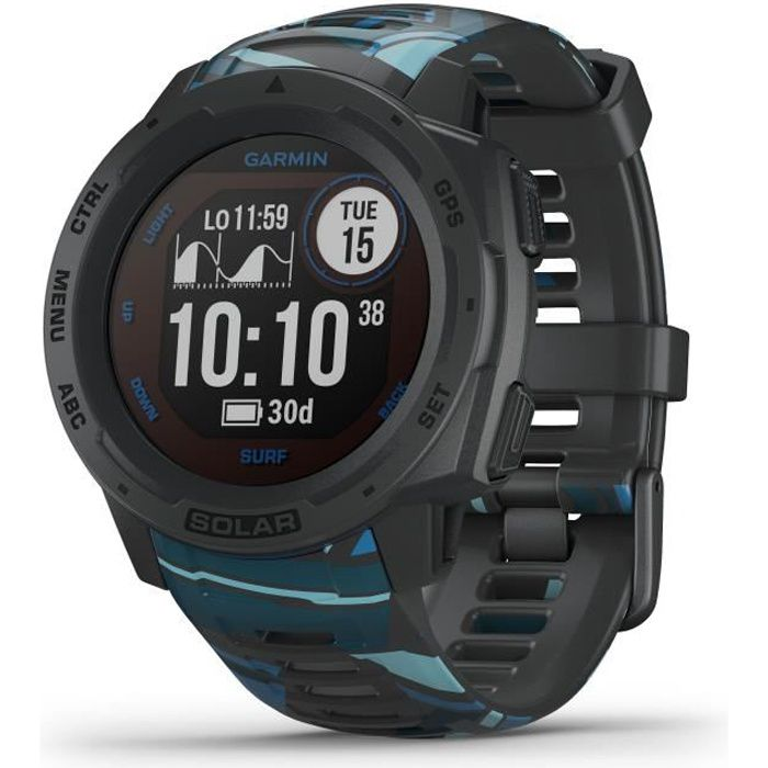 GARMIN Instinct® Solar Surf Montre connectée, Pipeline