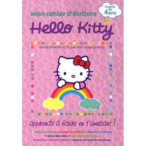Mon Cahier D Ecriture Hello Kitty Achat Vente Livre Collectif