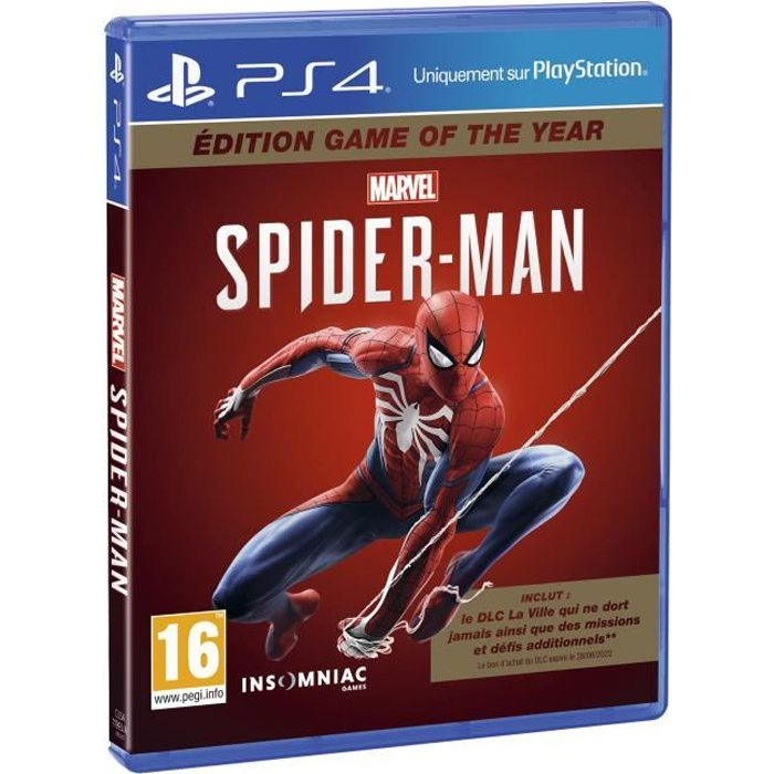 JEU PS4 Marvel's Spider-Man Game Of The Year Jeu PS4