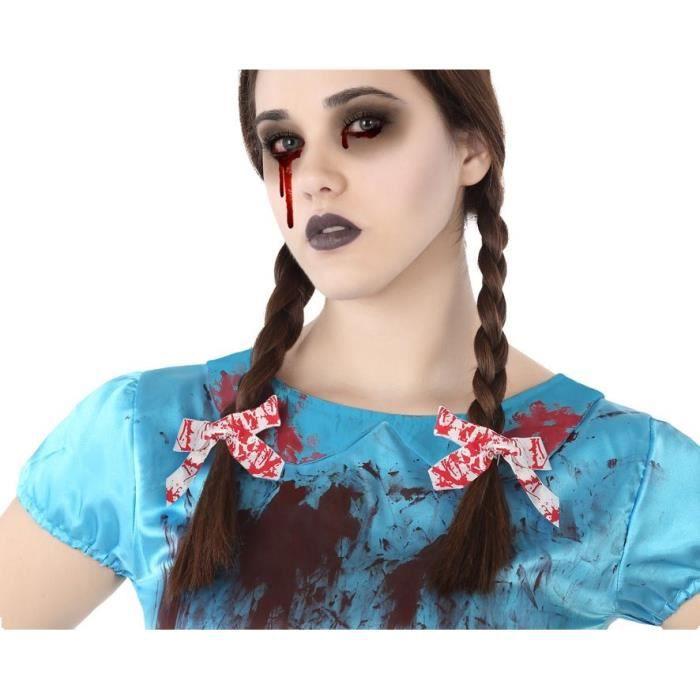 ATOSA Accessoires cheveux S/rab/cart. - Rouge - 2 pièces